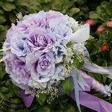 Романтика/фиолетовый Круглый атласная Свадебные букеты (124032070)
