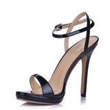 Mulheres Couro Salto agulha Sandálias Sapatos abertos sapatos (087015262)