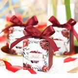 Lovely/Nice Cuboid Card Paper Favor Boxes & Containers With Ribbons (Set of 20) (050203438)