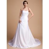 Vestidos princesa/ Formato A Coração Cauda longa Charmeuse Vestido de noiva com Bordado (002014492)