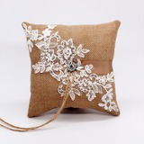 Elegant/Classic Linen Ring Pillow (103201156)