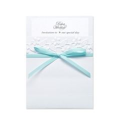 Stile classico Wrap & Pocket Invitation Cards con Nastri (Set di 10) (118040275)