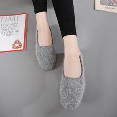 Женщины Замша Плоский каблук На плокой подошве Закрытый мыс с Другие обувь (086134543)
