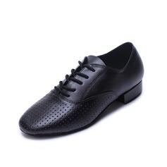 Herren Echtleder Heels Latin Ballsaal Training Charakter Schuhe mit Zuschnüren Tanzschuhe (053056033)
