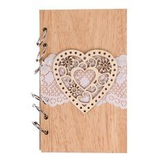Hjerteformede/Blomster Hjerteformede/Blomsten Designet Tre Notatblokk (Selges i ett stykke) (051166416)