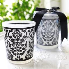 Vintage-Stil/Klassische Art/Elegant Glas Kerzenhalter mit Bänder (In einem einzigen verkauft) (051163665)
