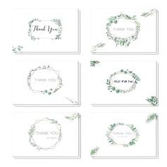 цветочный Стиль Боковой складкой Спасибо карты (набор из 6) (114205150)