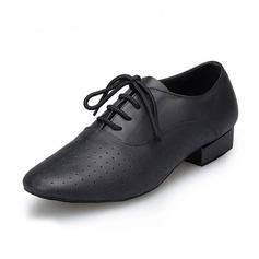 Мужская Натуральня кожа На плокой подошве Латино Бальные танцы Практика Обувь для Персонала Обувь для танцев (053067438)