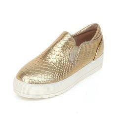 Vrouwen Kunstleer Flat Heel Flats Closed Toe schoenen (086089835)