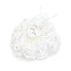 Heart Shaped Ring Box in Satin With Rhinestones/Faux Pearl (103048746)