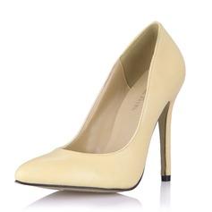 Женщины кожа Высокий тонкий каблук На каблуках Закрытый мыс обувь (085053025)
