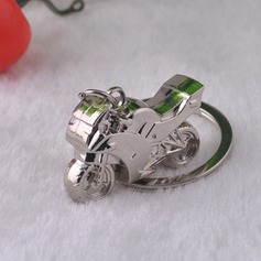 Classic Cool Motorcycle Design Silver Plated Steel Keychains (120050029)
