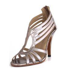 Женщины кожа На каблуках Сандалии Латино Обувь для танцев (053065123)