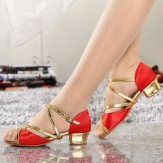 Donna Raso Similpelle Sandalo Latino con Fibbia Cava-out Scarpe da ballo (053111569)