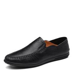 Мужская натуральня кожа U-Tip вскользь Men's Loafers (260172141)