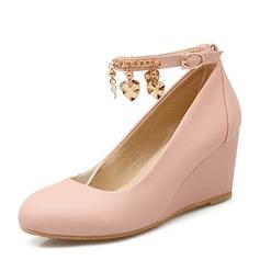 Женщины PVC Вид каблука Танкетка обувь (116155013)