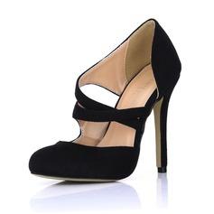 Camurça Salto agulha Bombas Fechados sapatos (085022575)