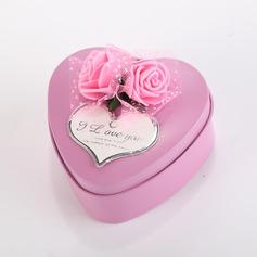 Сладкая любовь/Классический В форме сердца услуги олово с Цветы (набор из 12) (050096023)