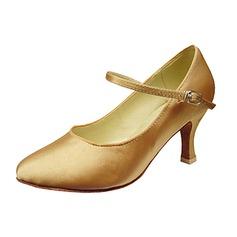 De mujer Satén Tacones Salón Sala de Baile Zapatos de danza (053013240)
