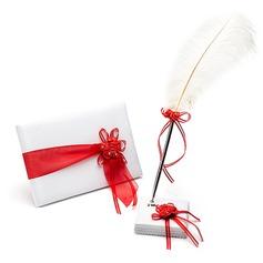 Bonito Fitas/Flor Livro de visitas & conjunto de canetas (101018194)