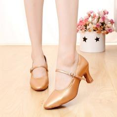 Женщины Натуральня кожа На каблуках Бальные танцы с пряжка Обувь для танцев (053108036)