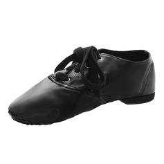 Женщины кожа На плокой подошве Джаз Обувь для танцев (053076381)