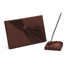 chocolate Cintos Livro de visitas & conjunto de canetas (101018176)