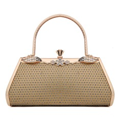 Den Fashional Faux läder/Metall med Strass Handledsväskor (012048457)