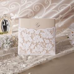 Persoonlijke Bloemen Stijl Wrap & Pocket Invitation Cards met Kralen (Set van 50) (114042962)