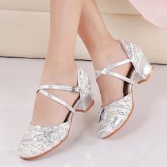Crianças Tecido Espumante Glitter Salão de Baile Sapatos de dança (053143406)
