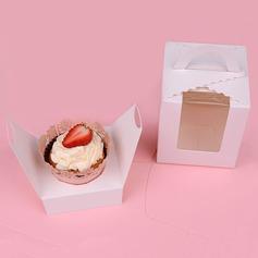 прекрасный корзины картона бумаги Фавор коробки и контейнеры/пирожня Коробки (набор из 12) (050060744)