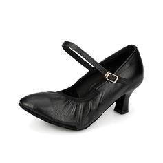 Женщины Натуральня кожа На каблуках На каблуках Бальные танцы с пряжка Обувь для танцев (053058453)