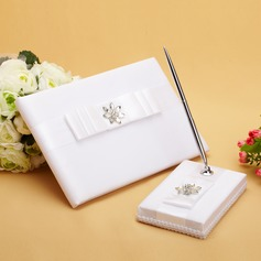 Pure Rhinestones/Bow Guestbook & Pen Set (101038623)