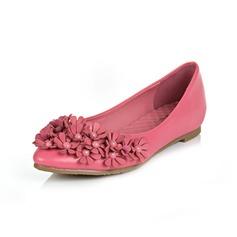 Konstläder Flat Heel Platta Skor / Fritidsskor Stängt Toe med Blomma skor (086049296)