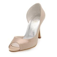 Vrouwen Satijn Stiletto Heel Peep Toe Sandalen (047010752)