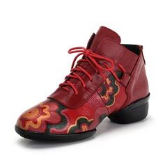Женщины Натуральня кожа Танцевальные кроссовки Танцевальные кроссовки Обувь для танцев (053090335)