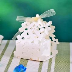 Floral Escultura Cuboidea Cajas de regalos con Cintas (Juego de 12) (050039036)