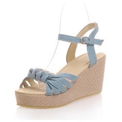 Ткань Вид каблука Сандалии Босоножки обувь (087063354)