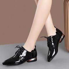 Женщины Лакированная кожа Низкий каблук На плокой подошве أحذية (086211877)
