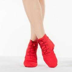 Женщины Холст На плокой подошве Джаз Обувь для танцев (053111522)