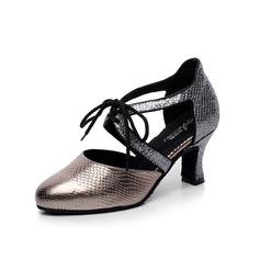 Женщины кожа На каблуках На каблуках Бальные танцы Обувь для танцев (053080778)