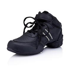 Vrouwen Kinderen Kunstleer Flats Dans Sneakers Oefening Dansschoenen (053012960)