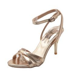 Женщины Высокий тонкий каблук На каблуках Сандалии Beach Wedding Shoes с пряжка (047125424)