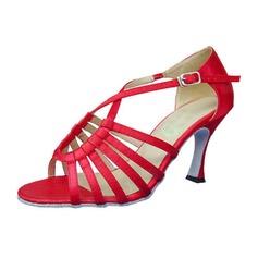 Kvinder Satin Hæle sandaler Latin Dansesko (053012989)