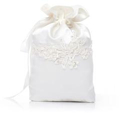 Elegant Satin mit Perlen verziert/Spitze Braut Geld-Beutel (012029664)