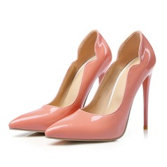 Женщины Лакированная кожа Высокий тонкий каблук На каблуках с Другие обувь (085107262)