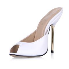 Женщины Лакированная кожа Высокий тонкий каблук Сандалии На каблуках Босоножки обувь (087053007)