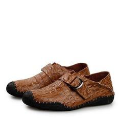 Мужская натуральня кожа Лошадь Мокасины вскользь Men's Loafers (260176551)