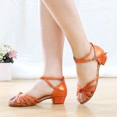 Детская обувь Кожа из микроволокна На каблуках Сандалии Латино Обувь для танцев (053121199)