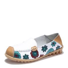 Женщины PU Плоский каблук На плокой подошве с Соединение врасщеп обувь (086149306)